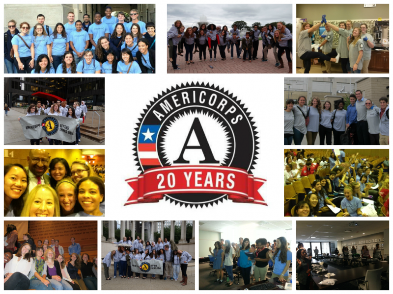 Members from all four operating sites celebrate AmeriCorps 20th Anniversary.